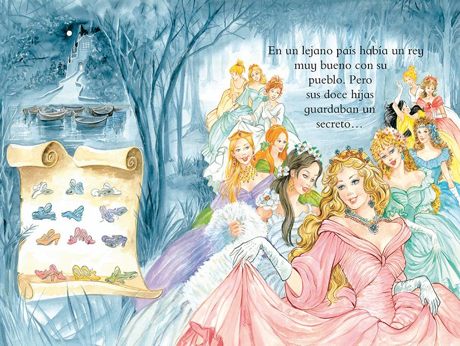 Las princesas bailarinas leer con susaeta for Jardin walt disney